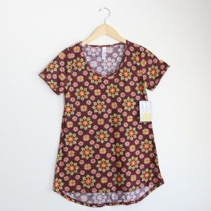 NWT LuLaRoe Floral Classic T in Size XXS